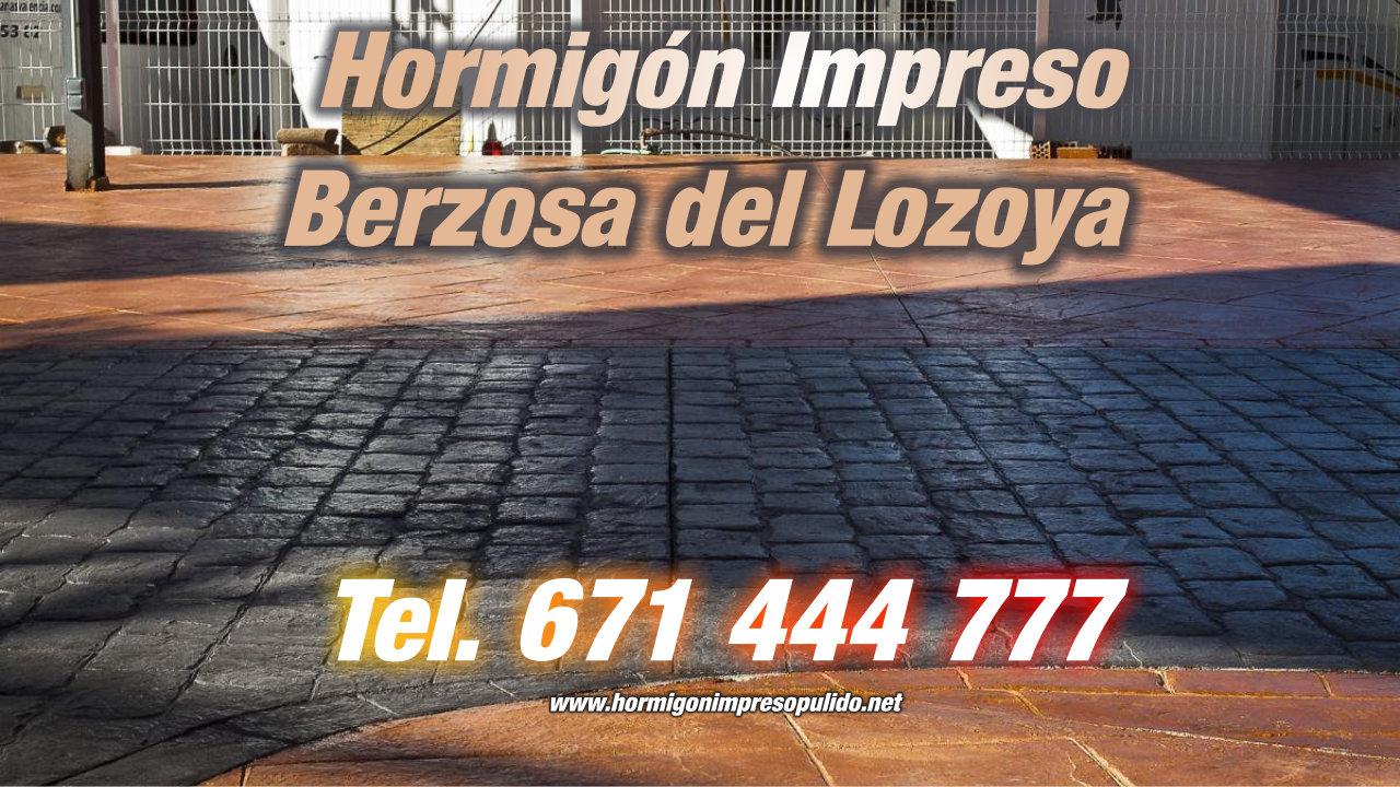 Hormigón Impreso Berzosa del Lozoya