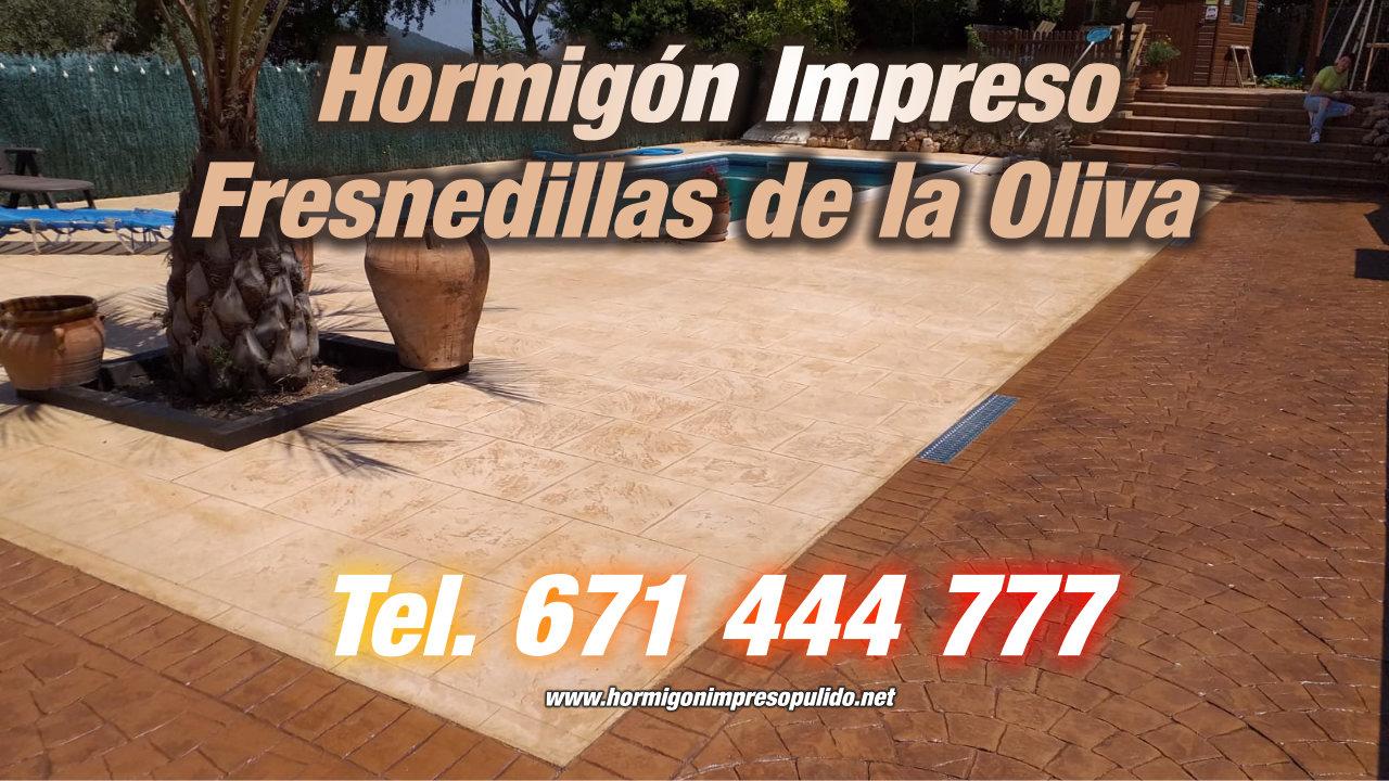 Hormigón Impreso Fresnedillas de la Oliva