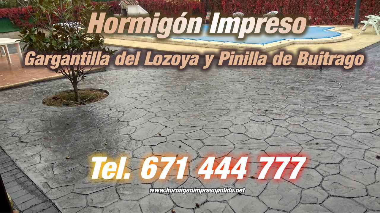 Hormigón Impreso Gargantilla del Lozoya y Pinilla de Buitrago