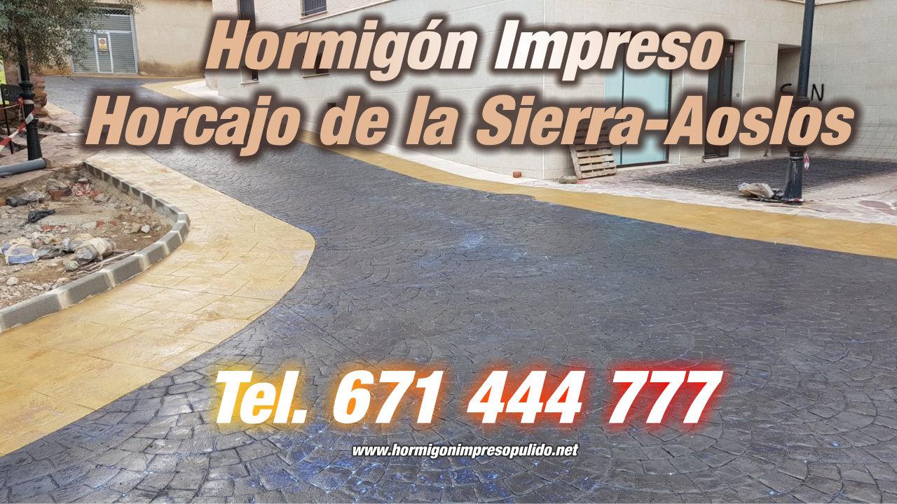 Hormigón Impreso Horcajo de la Sierra-Aoslos