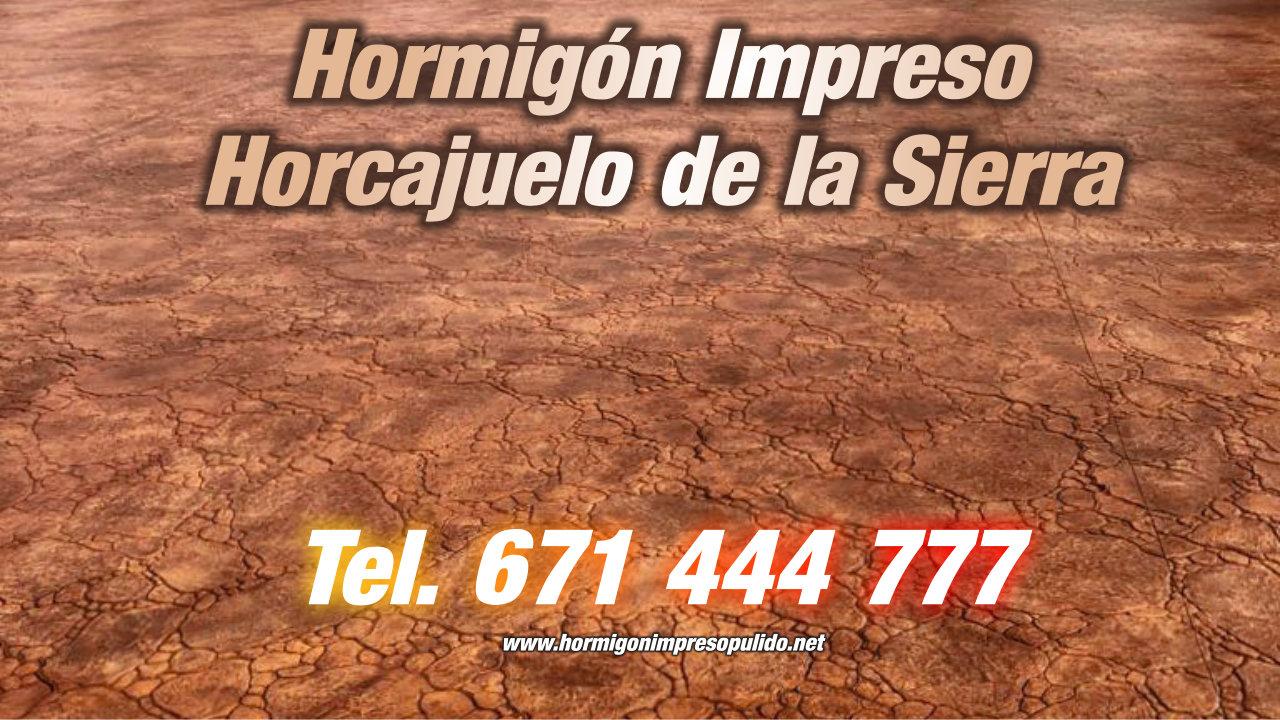 Hormigón Impreso Horcajuelo de la Sierra