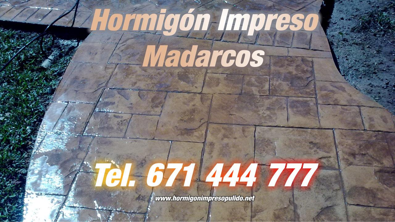 Hormigón Impreso Madarcos
