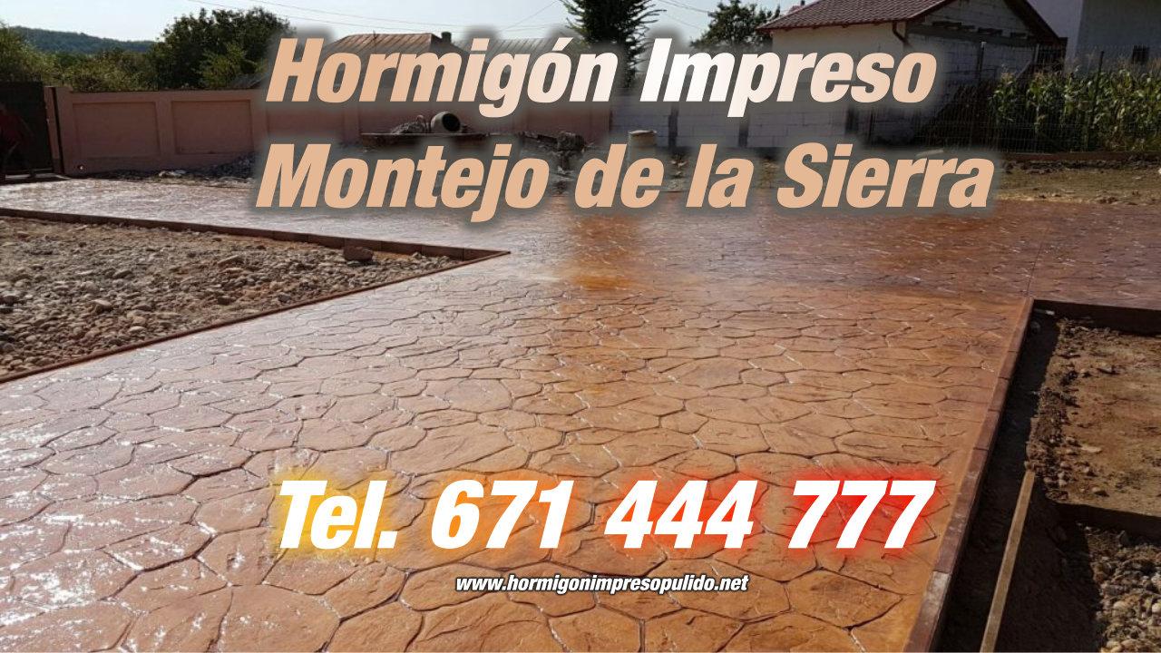 Hormigón Impreso Montejo de la Sierra