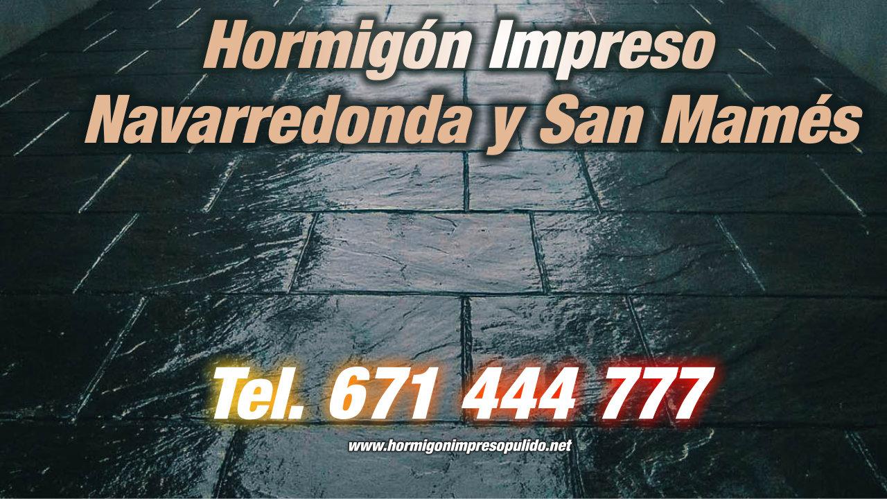 Hormigón Impreso Navarredonda y San Mamés