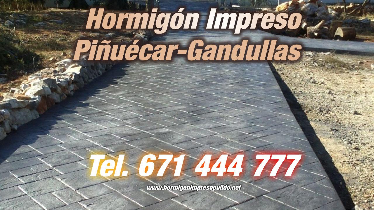 Hormigón Impreso Piñuécar-Gandullas