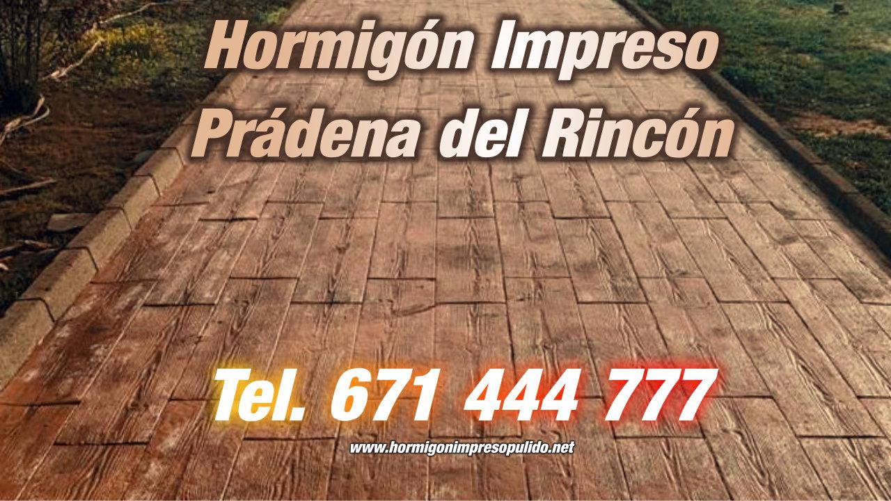Hormigón Impreso Prádena del Rincón