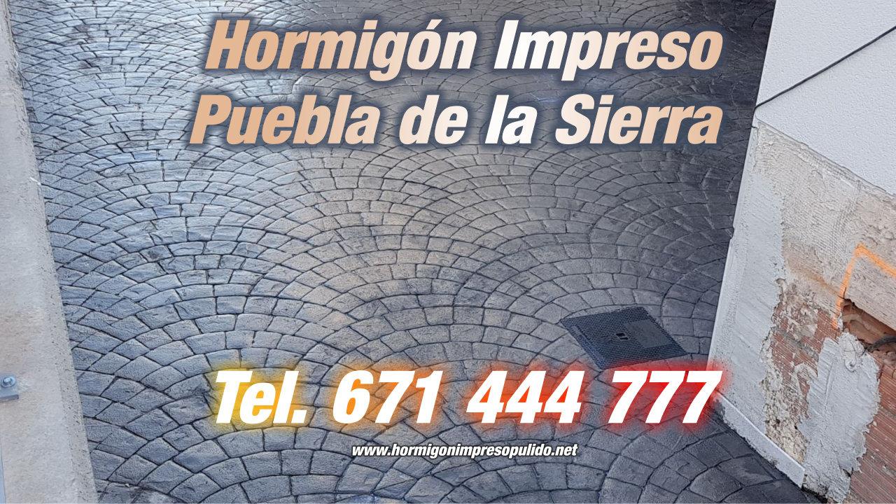 Hormigón Impreso Puebla de la Sierra