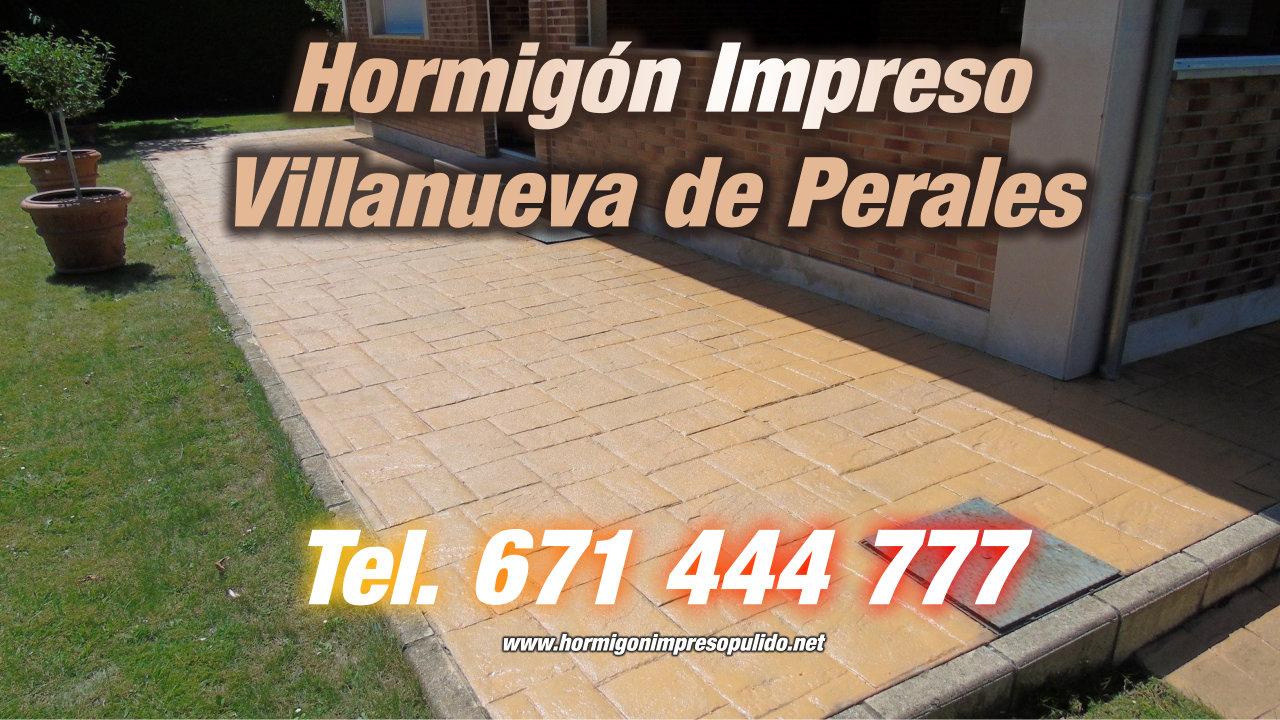 Hormigón Impreso Villanueva de Perales