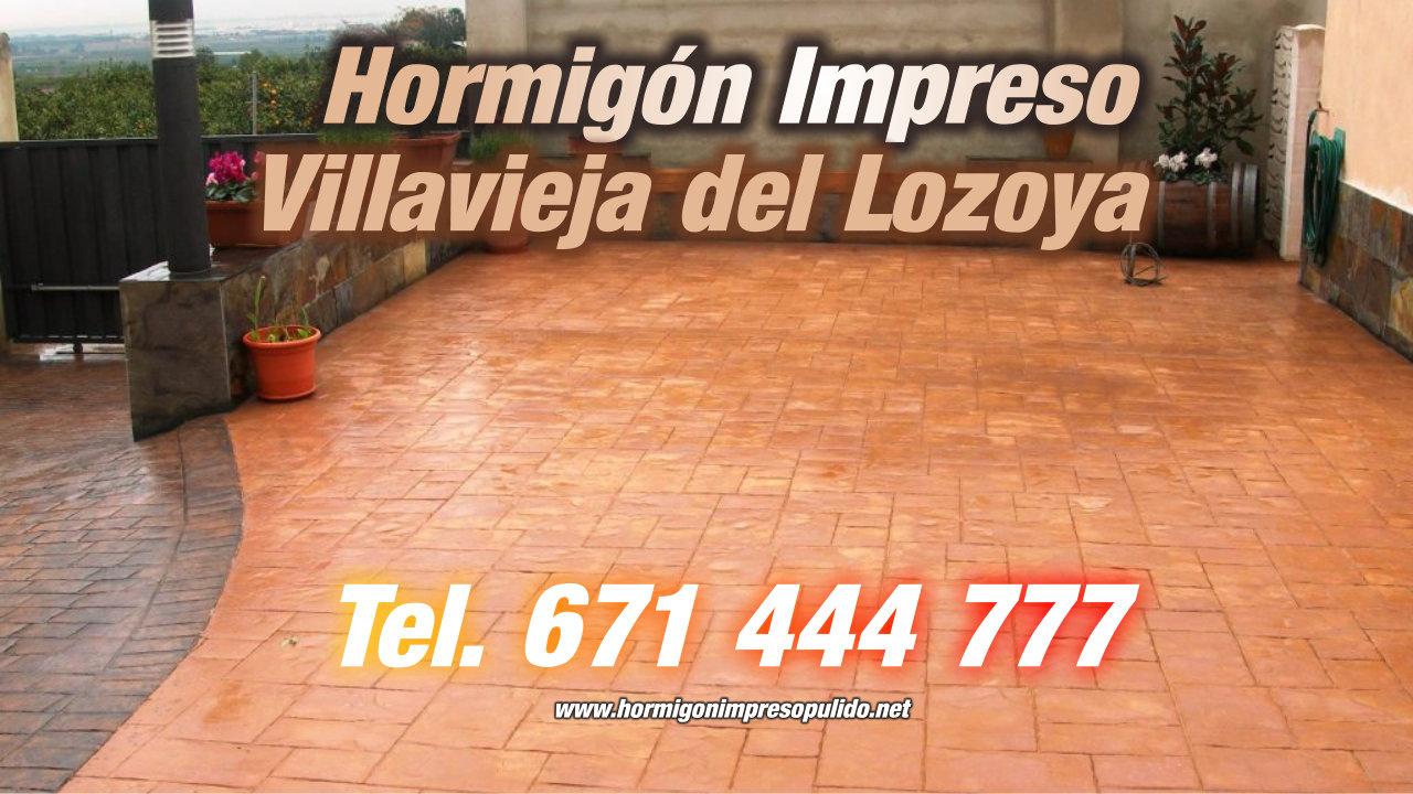 Hormigón Impreso Villavieja del Lozoya